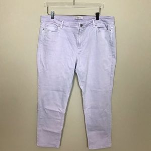 J. Jill Jeans - J. Jill Light Purple Authentic Fit Slim Ankle